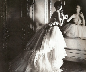dress, vintage, and black and white image