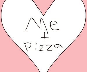 pizza, love, and me image