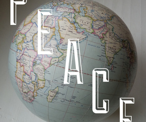 globe, peace, and vintage image