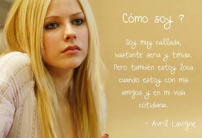 Frases Avril Lavigne Discovered By Pandora Box