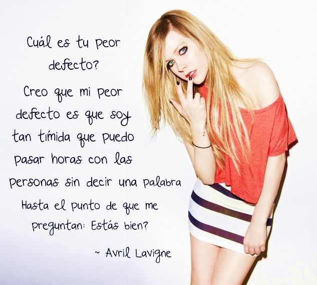 Frases Avril Lavigne Uploaded By Pandora Box