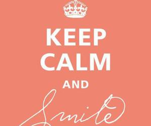smile, keep calm, and pink image