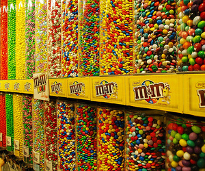 m&m, candy, and food image