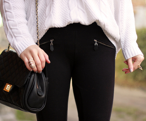 fashion, knit sweater, and outfit image