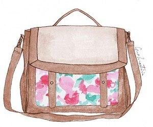 bag, drawing, and illustration image