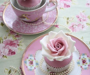 cupcake, pink, and rose image