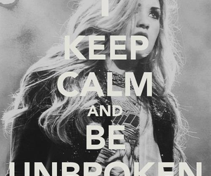 demi lovato, keep calm, and unbroken image