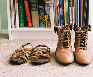 shoes, vintage, and books image