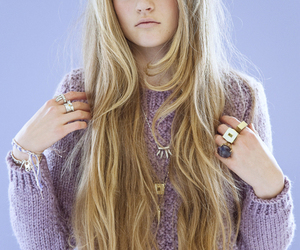 blonde, hair, and purple image