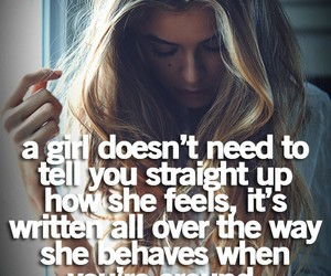 girl, quote, and feelings image