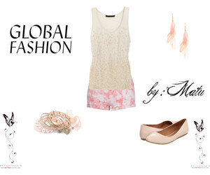 pink, Polyvore, and globalfashion image