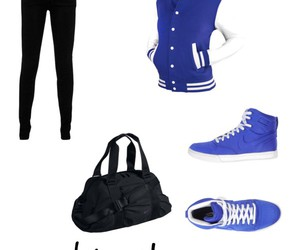 black, blue, and Polyvore image