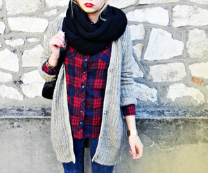 black scarf, fashion, and outfit image