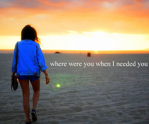 girl, beach, and text image