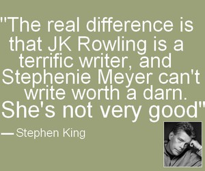 jk rowling, Stephen King, and stephanie meyer image