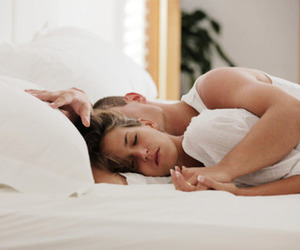 bed, girl, and hands image