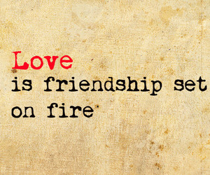 love, friendship, and quotes image