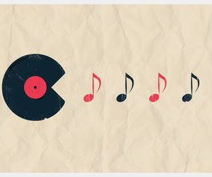 music, pacman, and note image