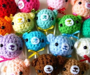 amigurumi, colors, and heads image