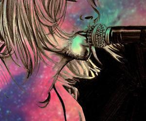 band, cobain, and drawing image