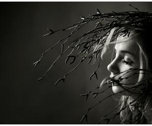 black and white, criative, and eyes image