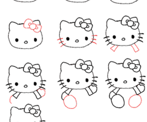 hello kitty, drawing, and draw image