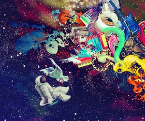 space, colorful, and psychedelic image