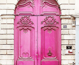 pink, door, and paris image