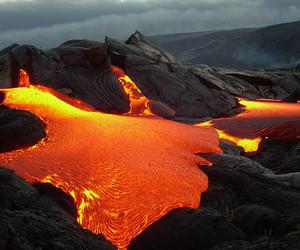 lava and volcano image