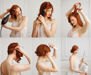 gossip girl, hair, and mad men image