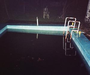 pool, grunge, and night image