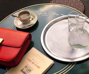 bag, coffee, and paris image