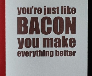 love, bacon, and cute image