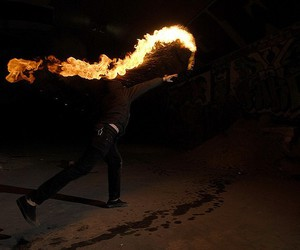 fire, boy, and cool image