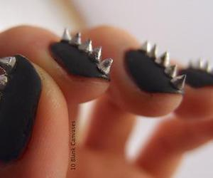 nails, black, and spikes image
