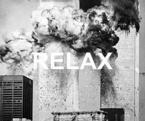 black and white, fire, and relax image
