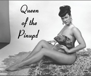 beauty, Bettie Page, and black and white image