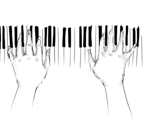 piano, music, and drawing image