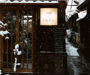 japan, snow, and black and white image