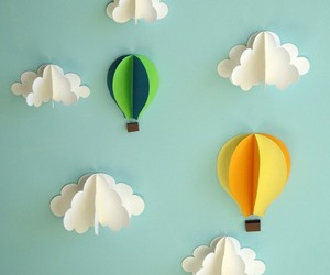 clouds, Paper, and cute image