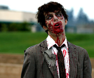 zombie, blood, and boy image