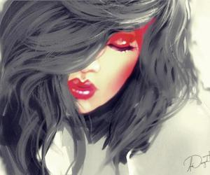beso, lips, and red image