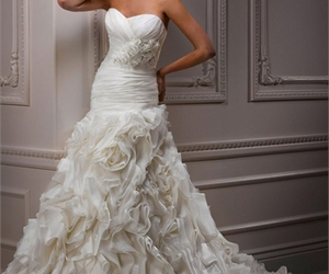 dress, fashion, and wedding dresses image
