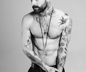 b & w, Hot, and beard image