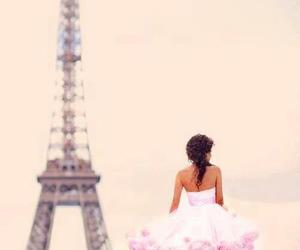 paris, dress, and pink image