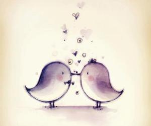 bird, love, and kiss image