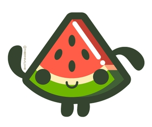 melon and illustration image