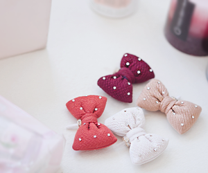 bow, girly, and pink image