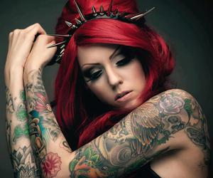 tattoo and red hair image