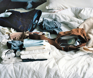 bed, clothes, and vintage image